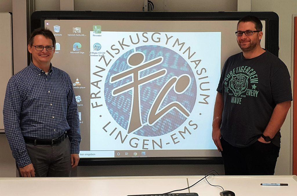 Die IT-Administratoren am Franziskusgymnasium: Marco Lögering und Franciskus van den Berghe